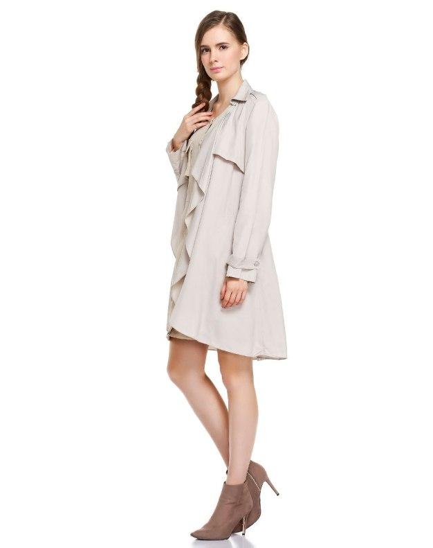 Lapel Single Breasted Standard Long Sleeve Women's Windbreaker