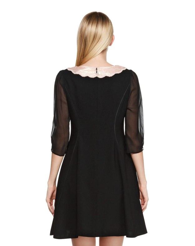 반소매 여성 드레스