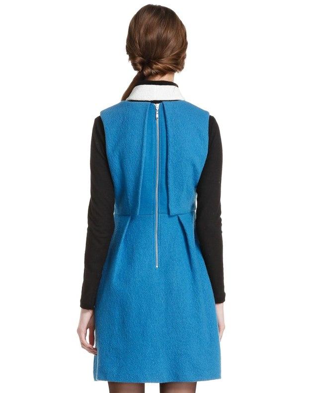 Blue Sleeveless 3/4 Length Women's Dress