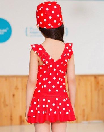 Red Girls' Swimwear