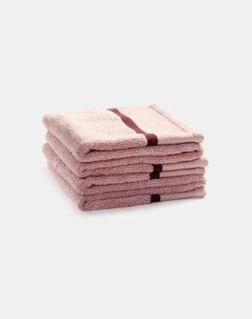 Light Purple Long-Staple Cotton Slight Twisting Satin Towel