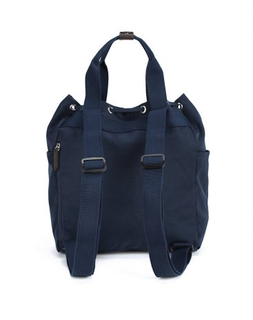 Blue Nylon Bucket Bag Medium Women's Shoulder Bag