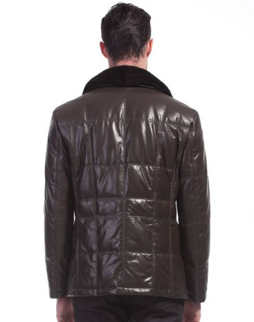 Long Sleeve Men's Fur & Leather