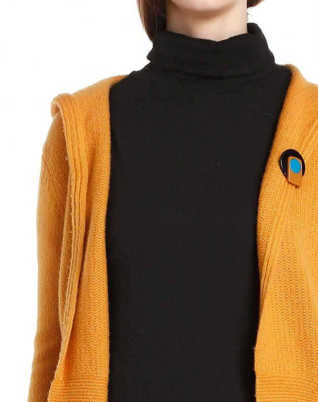 Yellow Long Sleeve Women's Knitwear
