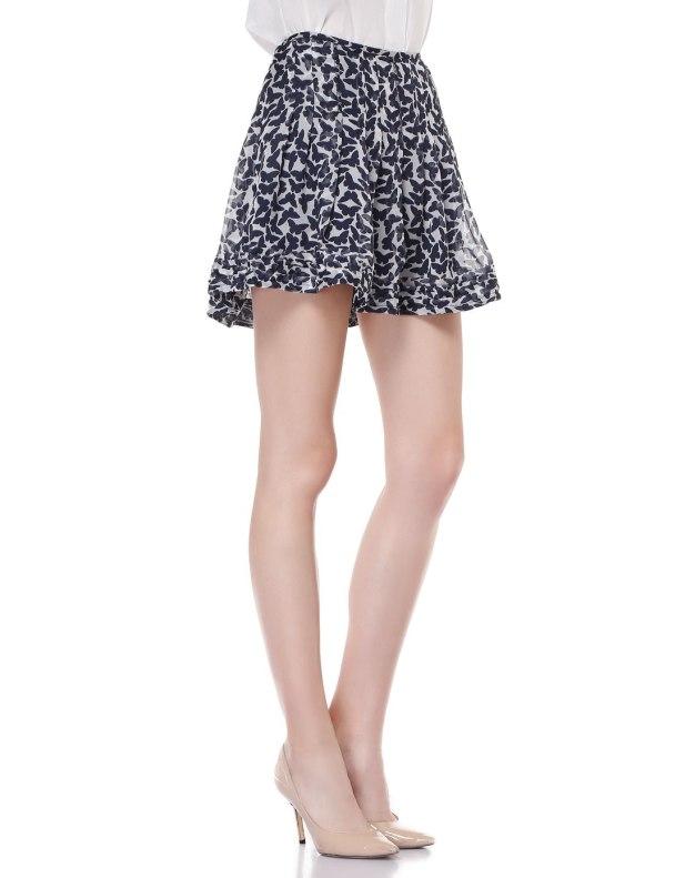 청색 짧은 치마 여성 주름치마  스커트