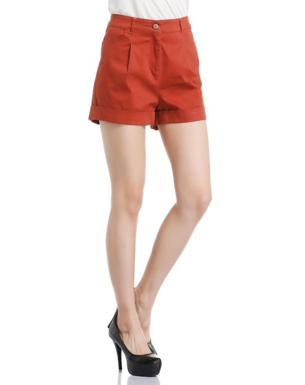 Red Short Women's Pants