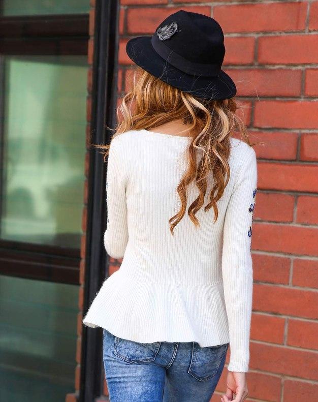 긴소매 슬림핏 여성 스웨터