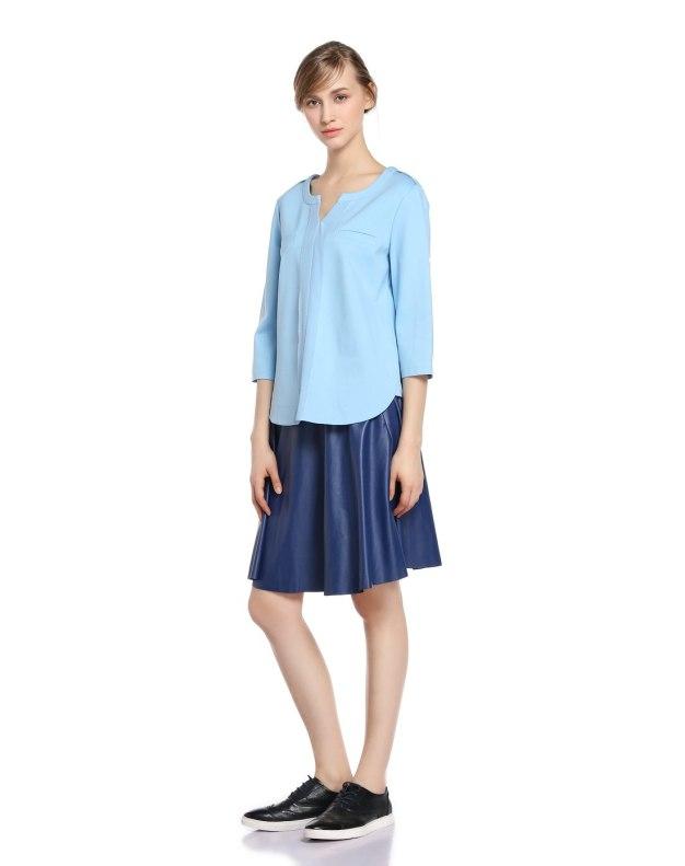 Blue 3/4 Sleeve Standard Women's T-Shirt