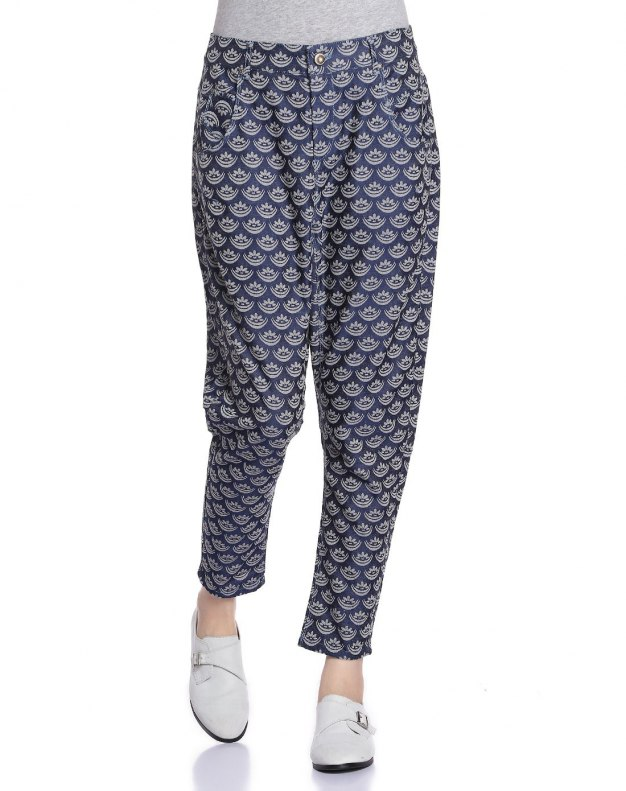 Blue Long Women's Pants