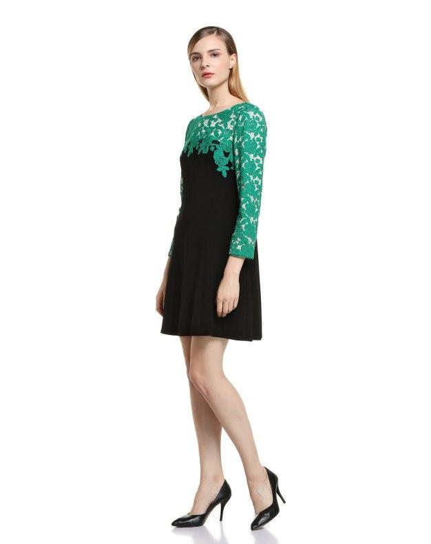 그린 여성 드레스