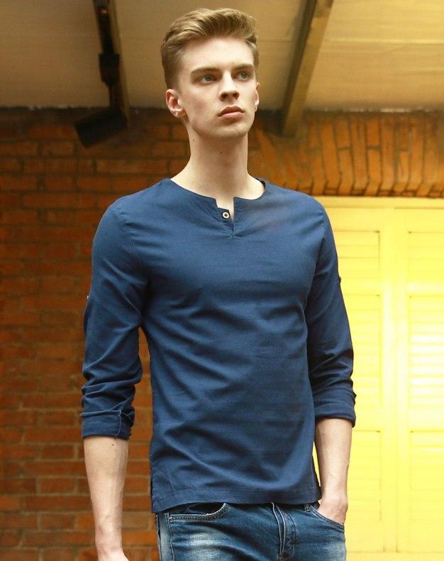Blue Long Sleeve Men's Shirt
