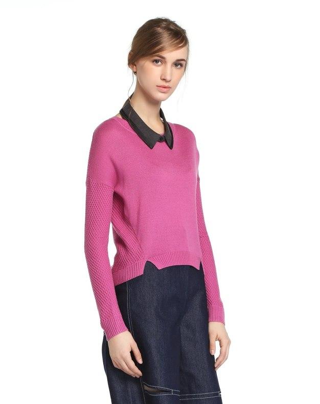 Red Long Sleeve Standard Women's Knitwear