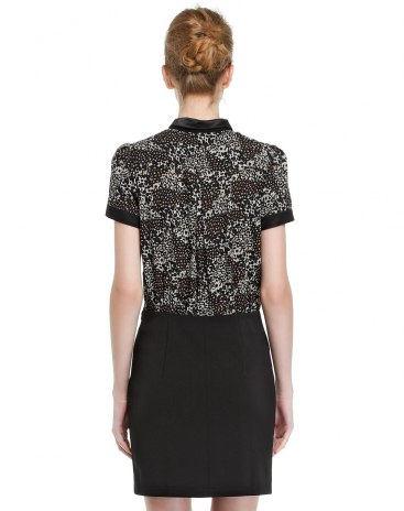 블랙 반팔 티셔츠 A라인 여성 드레스