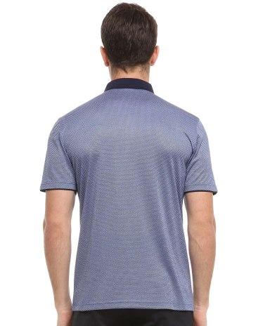 Blue Plain Collar With Contrast Colours Men's T-Shirt
