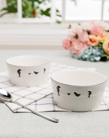 Underglaze Color 2 pieces Bowl Bowls & Plates