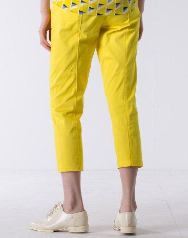 Yellow Cropped Women's Pants