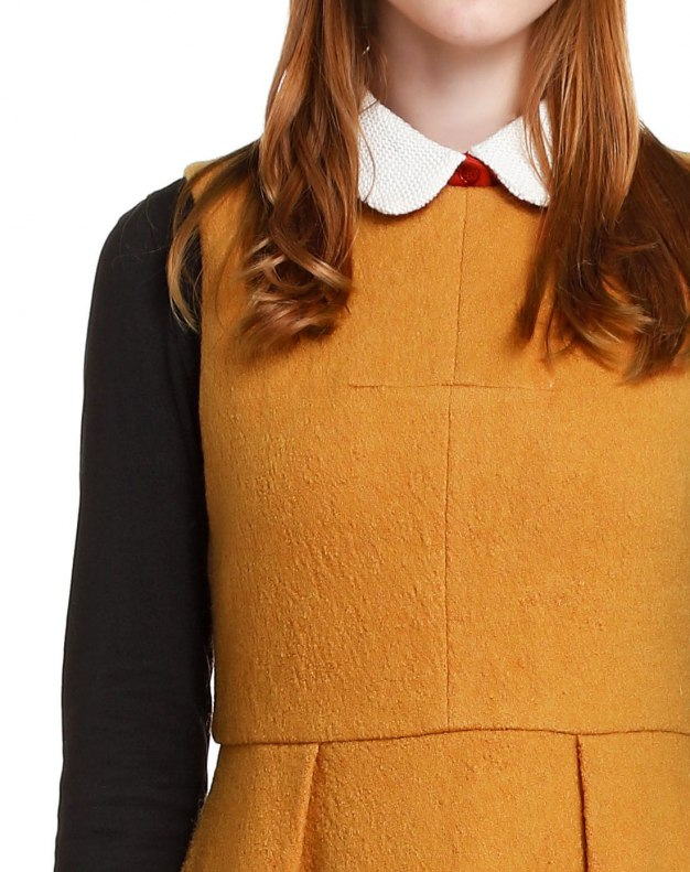 Yellow Sleeveless 3/4 Length Women's Dress
