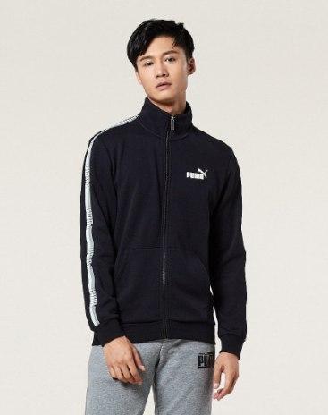 블랙 긴소매 표준 남성 코트