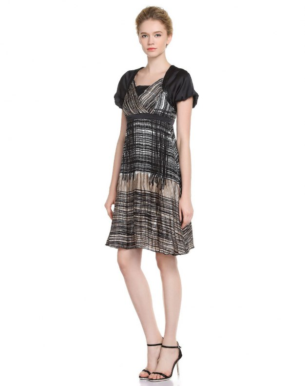 블랙 반팔 티셔츠 A라인 스커트 여성 드레스