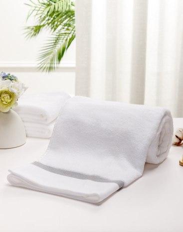 White Long-Staple Cotton Slight Twisting Satin Towel