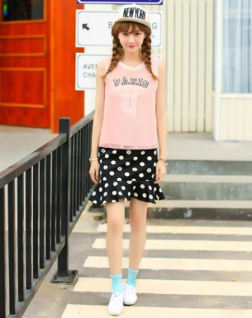 Pink Round Neck Sleeveless Women's Shirt