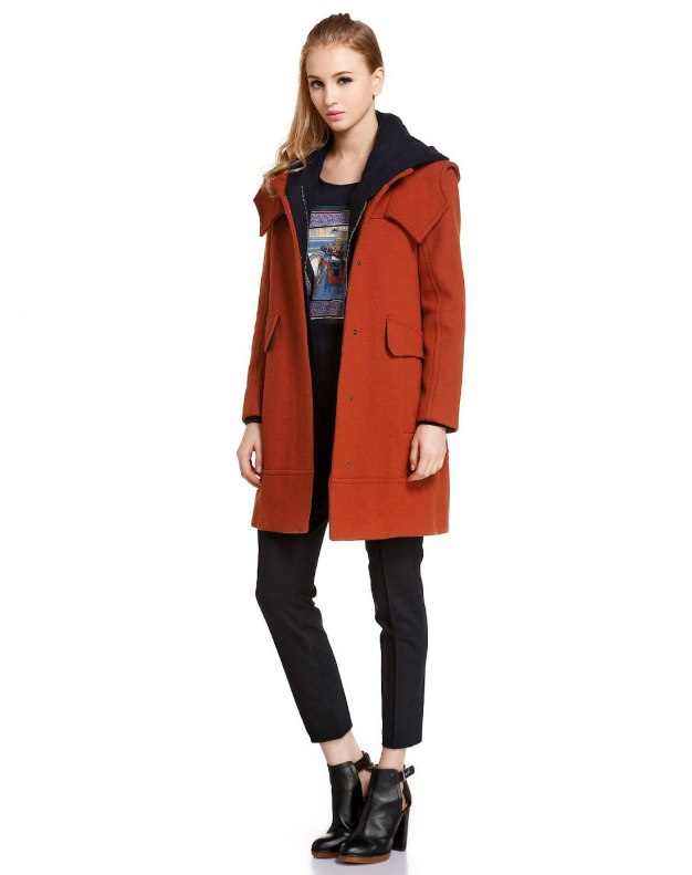 Red Long Sleeve Women's Outerwear