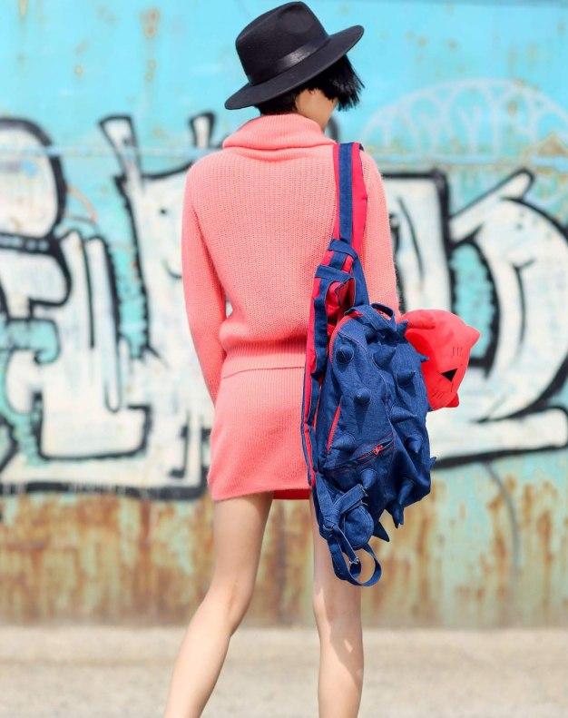 핑크 여성 슈트
