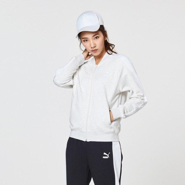 화이트 긴소매 표준 여성 운동 코트