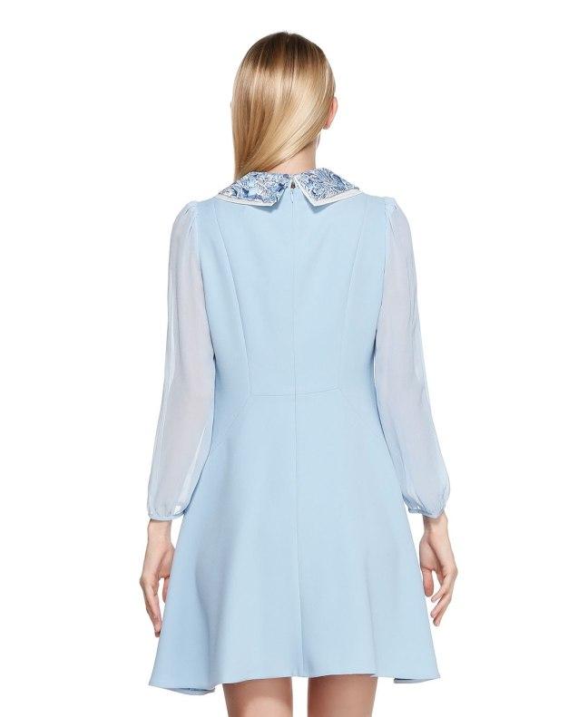 긴소매 여성 드레스