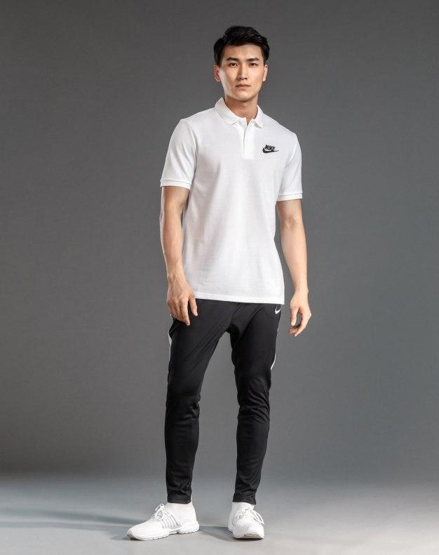 화이트 표준 반팔 티셔츠 남성 Polo