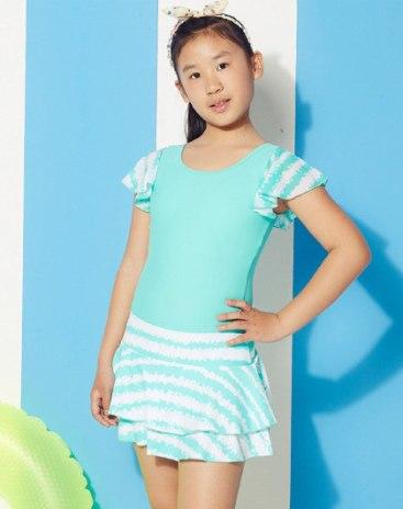 Green Girls' Swimwear