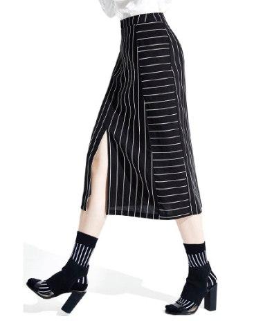 High Waist 3/4 Length Women's Skirt