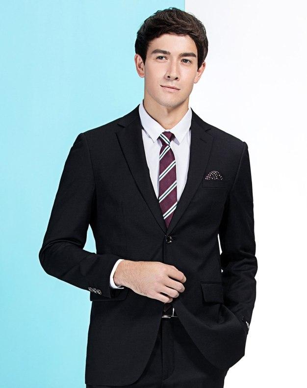Black Fitted Men's Suit