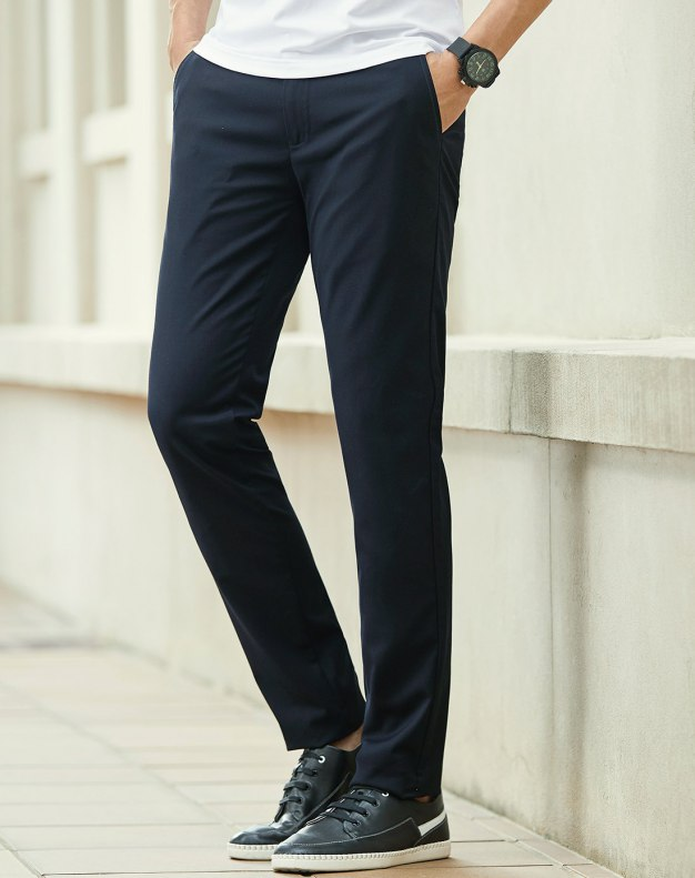 Indigo Paneled Inelastic Long Men's Pants