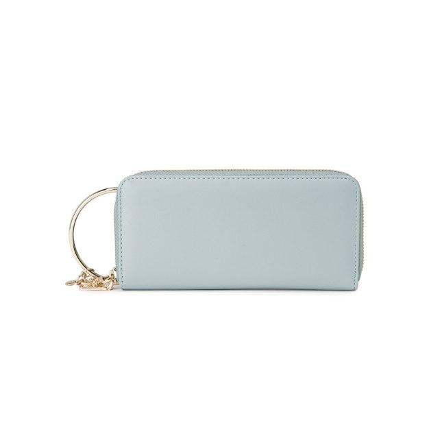 Blue Plain PU Purse(Long) Mini Women's Wallet