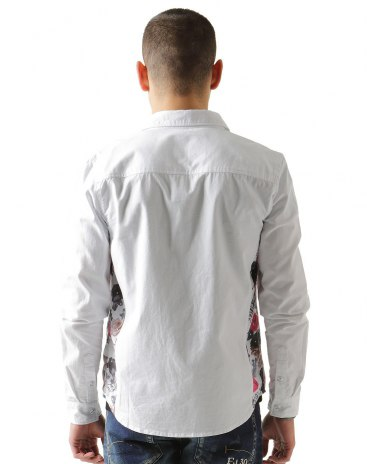 White Long Sleeve Standard Lapel Men's Shirt