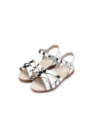 Silver Girls' Sandals