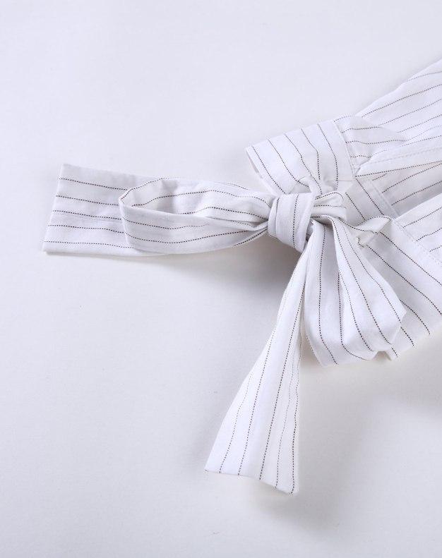 White Polo Neck 3/4 Length Standard Women's Dress