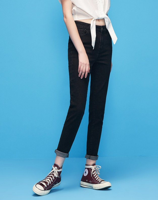 Black Washed Women's Jeans