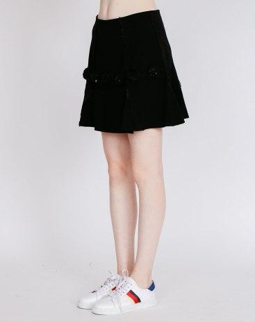 Black Women's Pleated Skirt