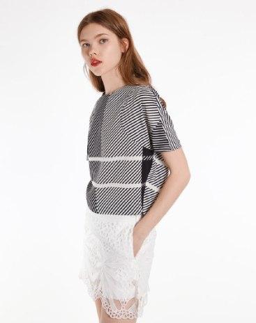 Plain Round Neck Short Sleeve Fitted Women's T-Shirt