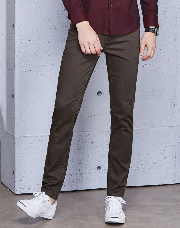 Light Elastic Fitted Men's Jeans