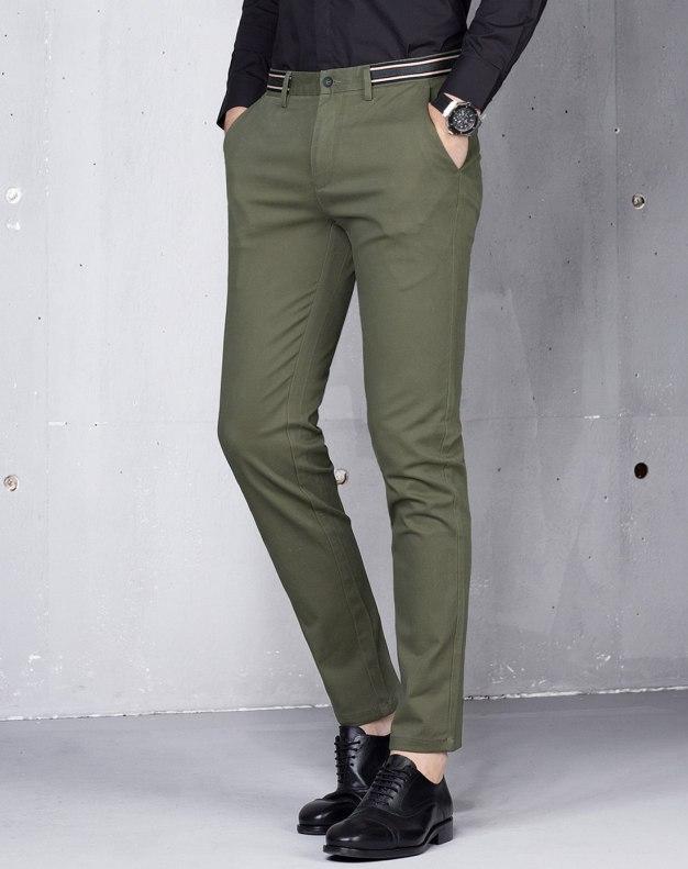 Green Long Men's Pants
