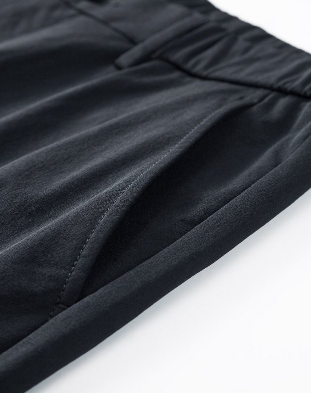 Gray Light Elastic Fitted Long Men's Pants