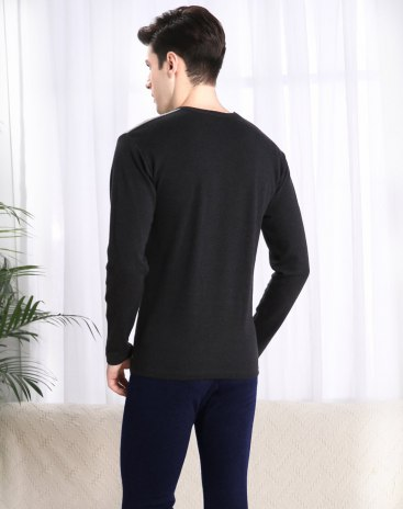 Gray Cotton Light Elastic Warm Thermal