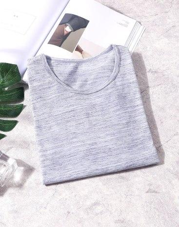 Purple Cotton Light Elastic T-shirt