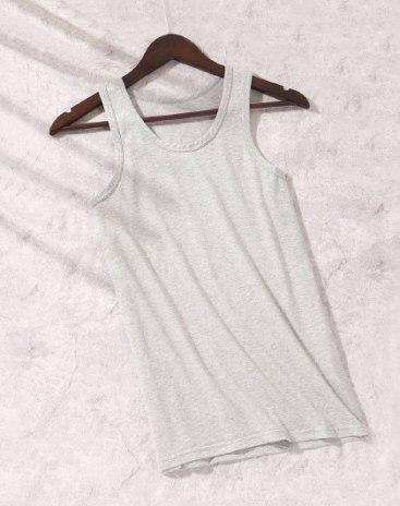 Gray Cotton Light Elastic Vest