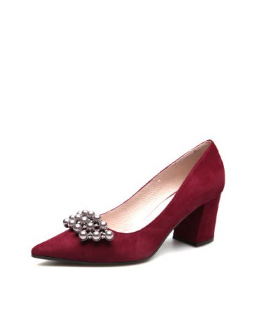 Pointed Middle Heel Wear-Resistant Women's Pumps