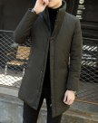 Stand Collar Long Sleeve Men's Down Coat