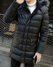Hidden Hood Long Sleeve Standard Men's Down Coat